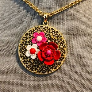 Talbots Flower Necklace
